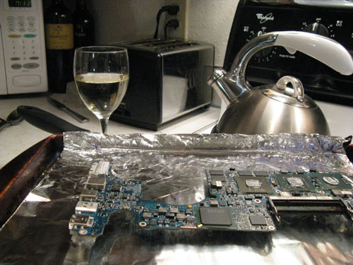 Refried MacBook Pro Logic Board
