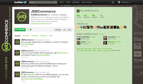 JEB Commerce Twitter Page