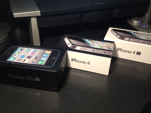 iPhone 3GS 4 and 4S Boxes